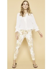 MOSMOSH Diana stitch blouse, offwhite